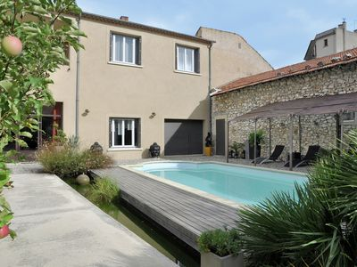 Photo for Beautiful and stylish town house with private swimming pool in the middle of Cavaillon