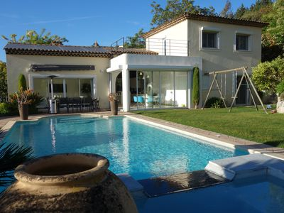 Photo for Immaculate 4 bedroom villa with beautiful private pool, walking to village