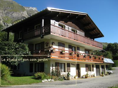 Photo for Studio in chalet, nice view, quiet, Col des Aravis