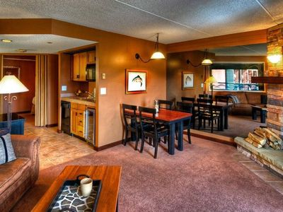 Photo for Access 6 Hot Tubs! Ski-In /Ski-out Premium Suite | Balcony & Fireplace