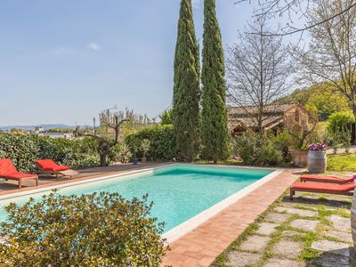 Photo for Private Villa with private pool, WIFI, A/C, TV, patio, pets allowed, panoramic view, parking