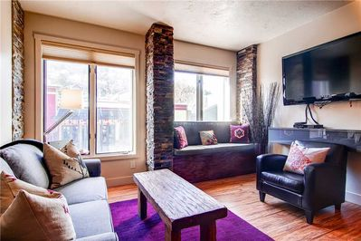 Sleeper sofa large screen TV great views of Main Street - Park City Lodging-Galleria 308