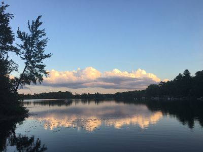 Photo for Cozy Lakefront Cottage on all-sports Bass Lake. Kayaking paradise.