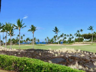 View to SW from lanai.  Private setting along Beach Golf course.