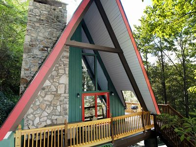 Photo for Classic A-frame Chalet - All Modern Amenities - Recently Refurbished