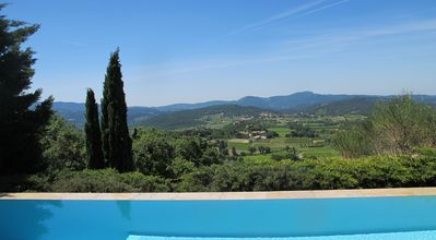 Photo for Drôme provence spacious property panoramic view pool Ventoux, garden
