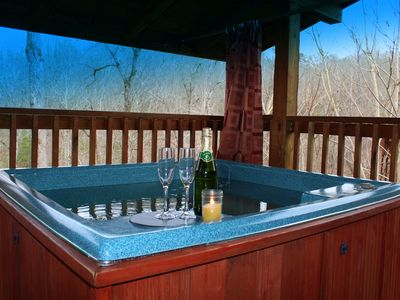 Photo for Hot Tub, Wooded View,FREE Area Attraction Tickets.