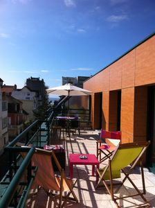 Photo for T4 apartment 60m² large south side sea view terrace