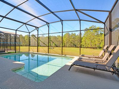 Photo for PRIVATE POOL w/ NO REAR NEIGHBORS, GAME ROOM, 2 MASTER SUITES, MODERN DECOR!!!