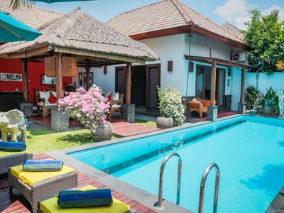 Photo for 5' walk to beach, 3 bedrooms, Seminyak