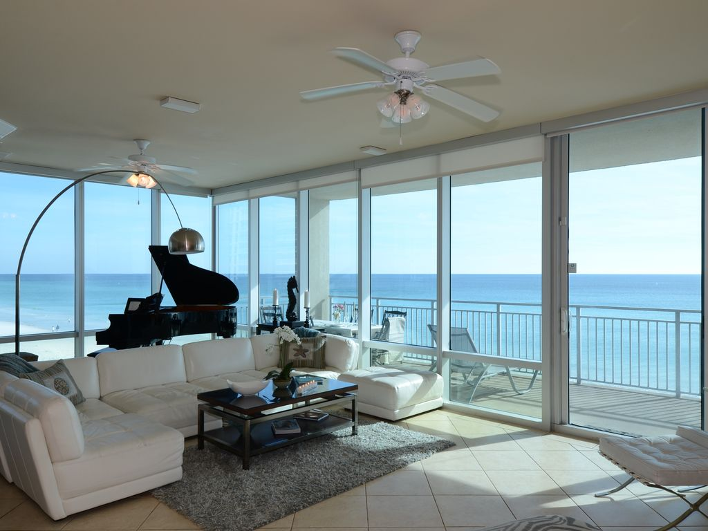 Seabliss gulf front luxury walls of windows call 404 - 1 bedroom condos in destin fl on the beach ...