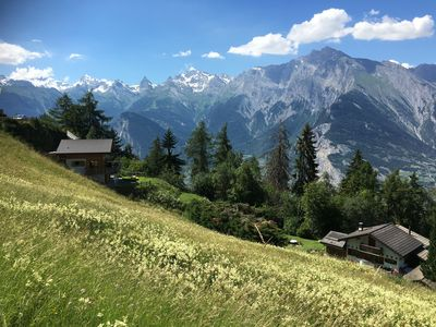 Photo for Luxury Chalet for up to 8 people - incredible views over the Rhone Valley