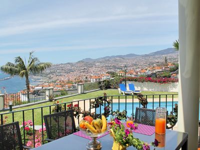 Photo for Tranquil large traditional quality house. Town and sea view   Villa Vista Sol
