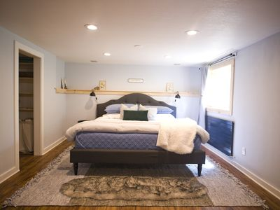 Photo for (New Listing) Charming Scandinavian farmhouse suite w/ hot tub and steam room