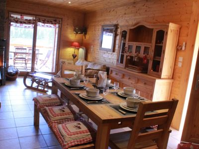 Photo for Apartment type chalet pampering 65m², with sauna and terrace for 8 people