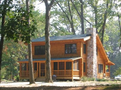 Photo for Beautiful Lakefront Saugatuck Log Cabin