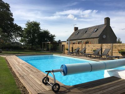 Photo for Country house with pool, spa and sauna in Mt St Michel Bay