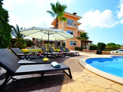 Photo for Comfortable villa for 10 people, with private pool in Sa Torre. Barbecue. Satellite TV.- 66910- - Free Wifi