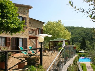 Photo for pretty Tuscan villa with private pool between Florence and Arezzo in beautiful hill position