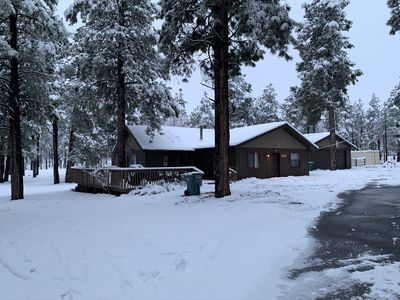 One of a kind property in flagstaff It is a Cabin on 10 acres with bunkhouse