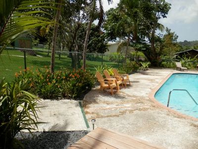 Private pool and deck as part of the property