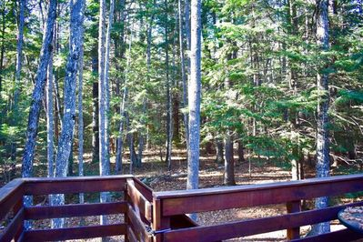 Back deck overlooking the White Mountain National Forest.