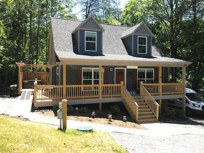 Photo for Bluebird Hideaway: 1 Private Acre, Hot Tub, & Pet Friendly!