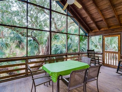 Photo for Beautiful SC home with screened porch is within walking distance of the beach!
