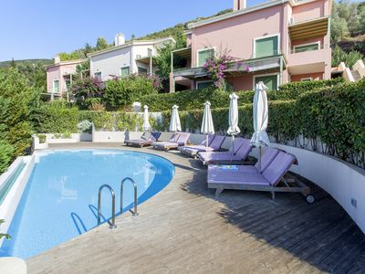 Photo for Luxurious Sophia Maisonette with pool and sea view, 5 minutes away from Lefkada