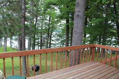 Our deck has beautiful views of the lake.