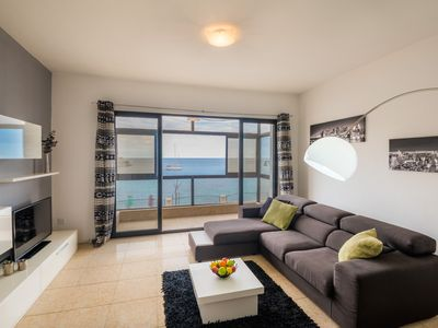 Photo for ON  SPINOLA BAY WITH AMAZING SEA VIEW  - SPACIOUS 3BR FLAT FOR 6!