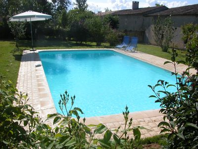 Photo for Lovely quiet 3 bedroom rural house with private 10x5m pool St Emilion nearby