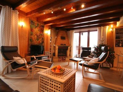 Photo for Surface area : about 94 m². Orientation : South, West. Living room with fireplace