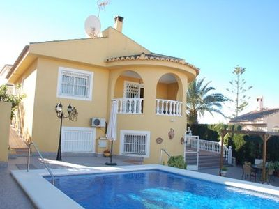 Photo for 4 bedrooms detached villa with private pool, suitable for families or friends