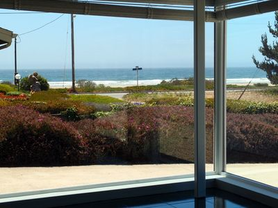 Enjoy this ocean view from the living room or take the short walk to the beach!