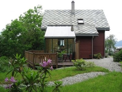 Photo for Cozy holiday home on the Hardangerfjord incl. Boat for 6 people
