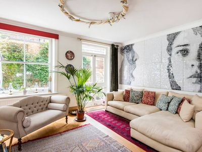 Photo for Artistic 3 bed garden flat, near Notting Hill