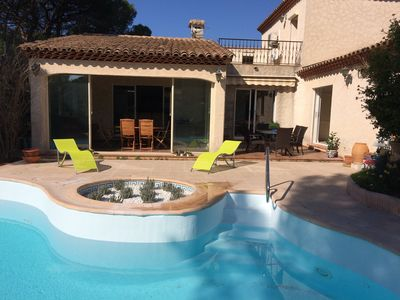 Photo for Fréjus St-Raphaël: Beautiful villa, 3 bedrooms, 3 bathrooms, 6 people, private pool
