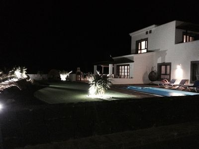 Photo for luxury  3bed Villa with heated private pool, full Sky and free WIFI