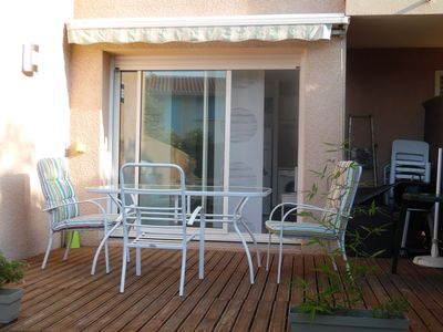 Photo for Studio Capbreton - sleeps 2 adults -garden-pool-parking