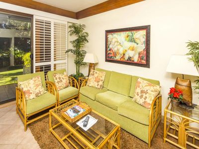 Photo for Upgraded Ground Floor Suite w/ Modern Kitchen, Lanai, WiFi–Kiahuna Plantation #2421