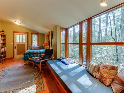 Photo for NEW LISTING! Dog-friendly studio w/ kitchenette, WiFi, yard & fire pit!