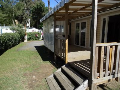 Photo for nice spacious mobile home in a quiet sunny
