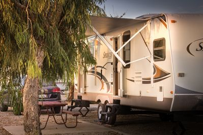 Standard RV Rentals are located in the Standard Section by the Clubhouse