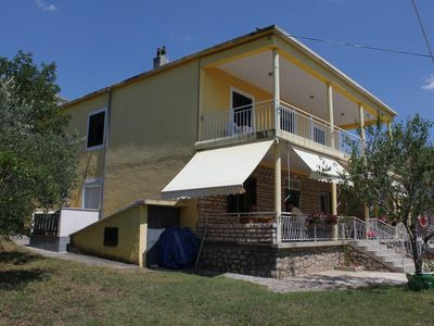 Photo for One bedroom apartment with balcony and sea view Starigrad (Paklenica)