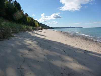 Photo for 105' of Private Lake MI Beach, 4th of July Availability!