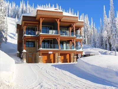 Photo for Luxury Duplex Chalet  Ski in/Ski out  Private Hot Tub, Laundry and Garage