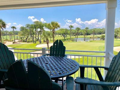Photo for 1st Floor Villa with Golf Views! Pet friendly!  Amenity Cards Included!