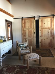 Photo for Spacious Log Cabin on Valley Creek w/ Sawtooth Views. Dark Sky Reserve. Privacy.