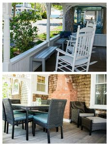 Water-view wrap-around front porch w/ comfortable seating for 11+